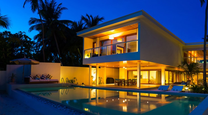Amilla 4 Bedroom Villa Residences - Evening Ambience