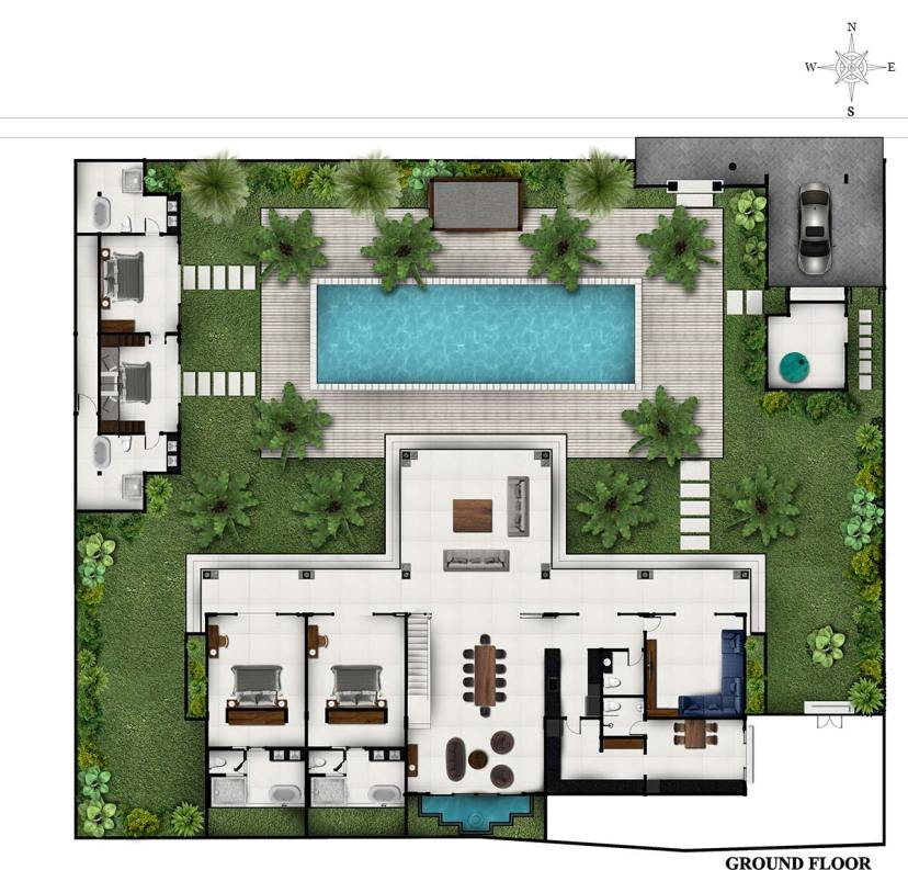 Villa Tjitrap - ground-floor
