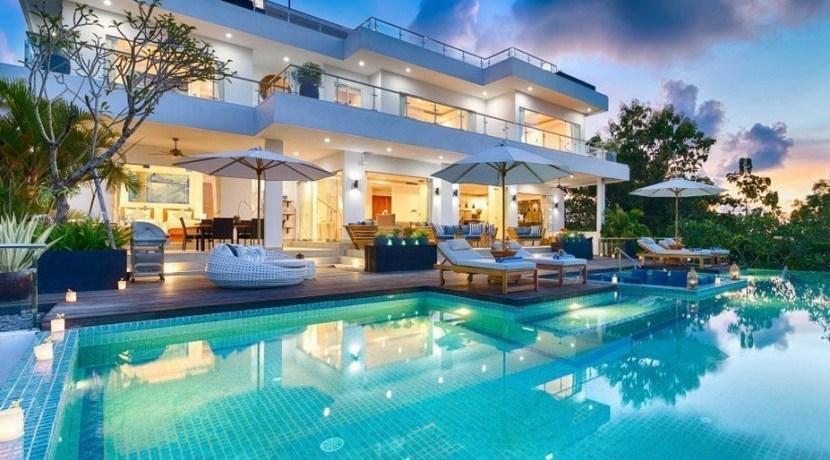 Villa KaliBali - Pool at Sunset