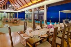 Villa Haleana - Living and Dining at Night
