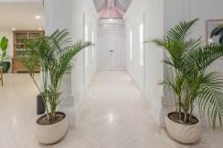 Villa Puri Balangan - White and Bright Entrance Way