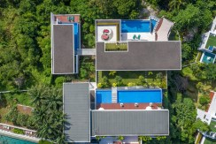 Villa Solaris - Aerial view showing layout and swimming pools