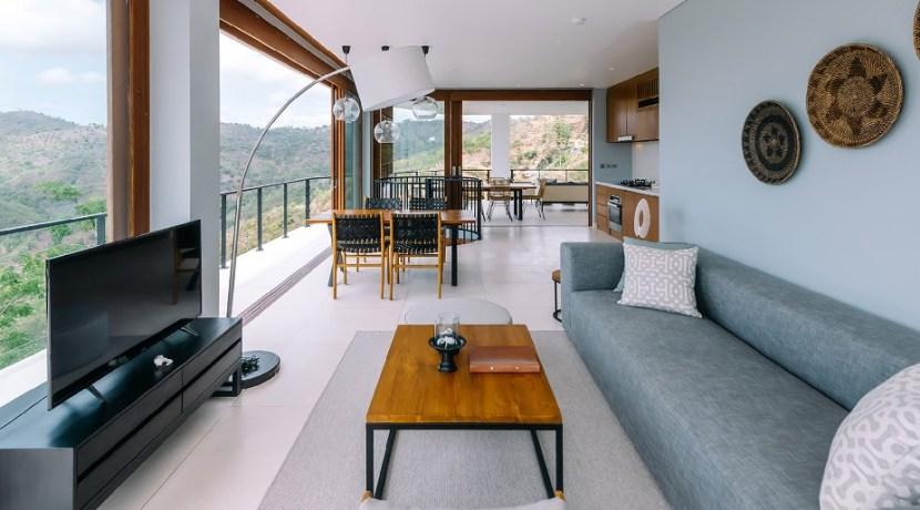 Villa Tebing - Living area with hilltop view
