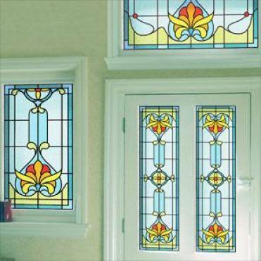 Art Deco Stained Glass Window Film