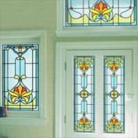 Art Deco Stained Glass Window Film