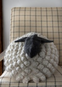 Bobble Sheep Pillow in Gentle Giant | Purl Soho