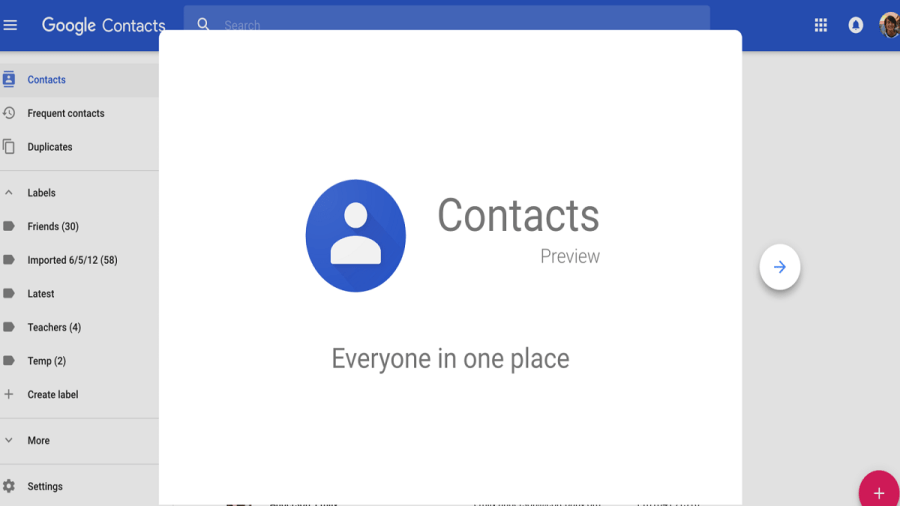 Contactos de Google trae su carpeta de basura a Android