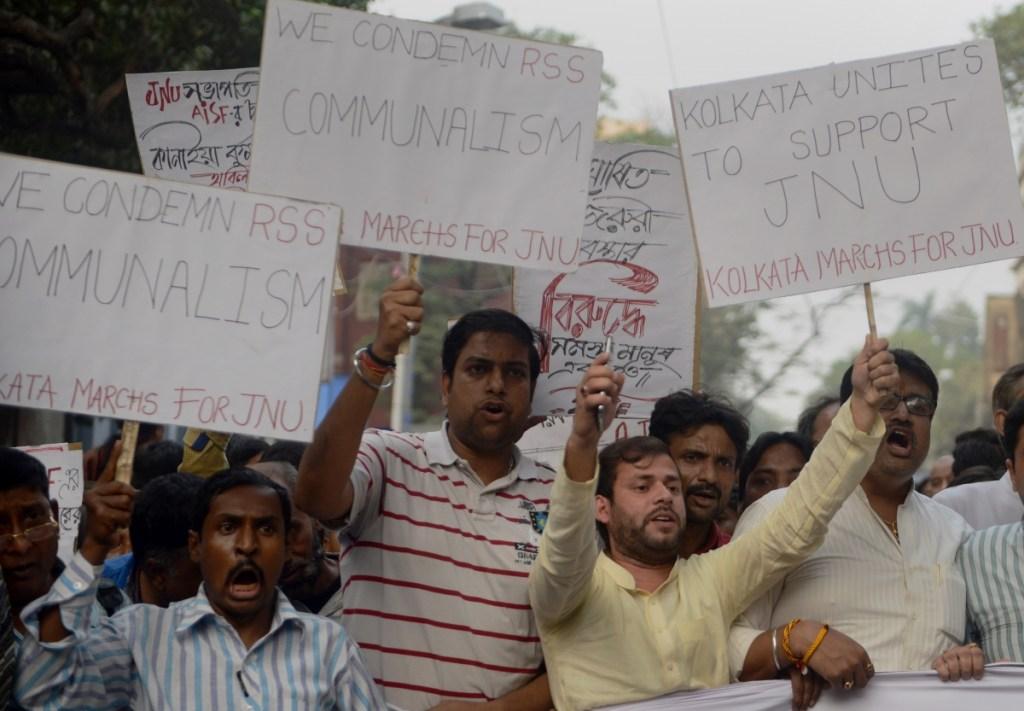 Protesta estudiantes Universidad Nehru