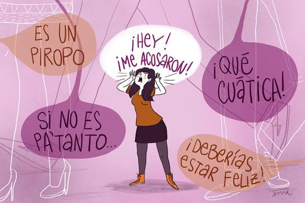 Resultado de imagen para acoso a mujeres en la prensa ilustración