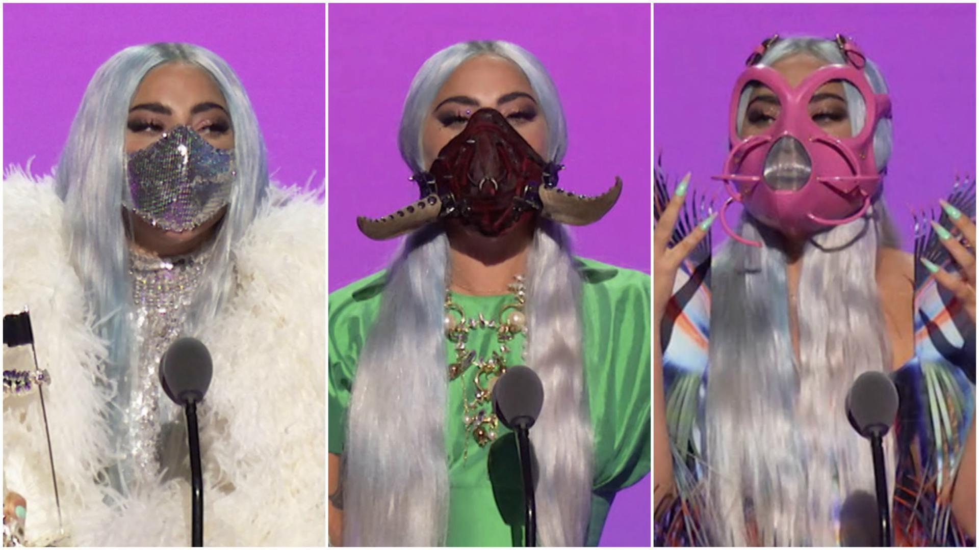 Las insólitas mascarillas de Lady Gaga en la gala de MTV | Puro Periodismo