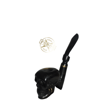 Ebony Skull Pipe