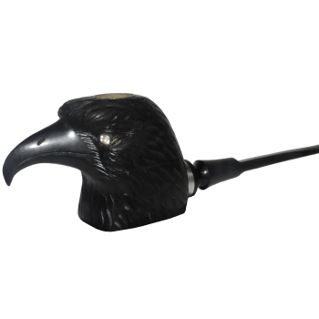 Ebony Bald Eagle Pipe