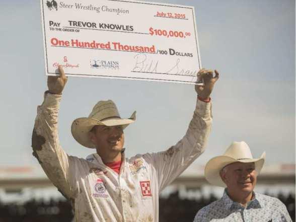 Trevor Knowles win in Calgary. Photo: Aryn Toombs, Calgary Herald.