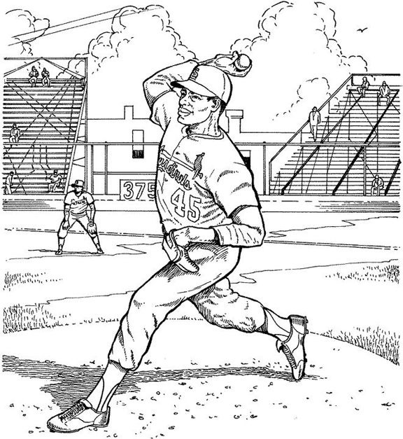 cardinals coloring pages baseball logos | St. Louis Cardinals Fredbird Coloring Page Coloring Pages