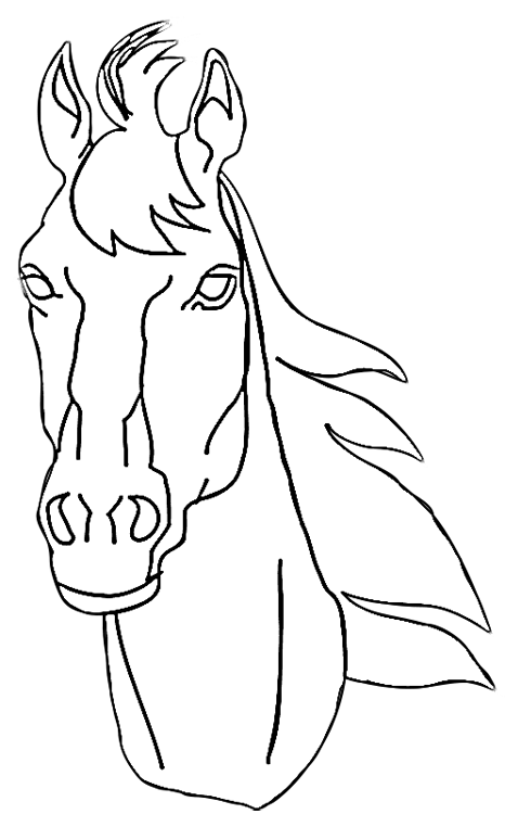 Horse Head Coloring Pages Coloring Pages