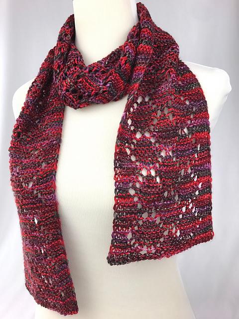 Silken Diamonds scarf pattern