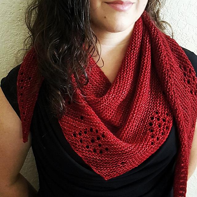 Sweet Hearts shawlette pattern