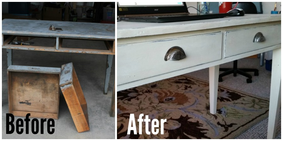 New Old Desk Before and After