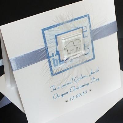 Handmade Christening Cards Luxury Boxed Christening