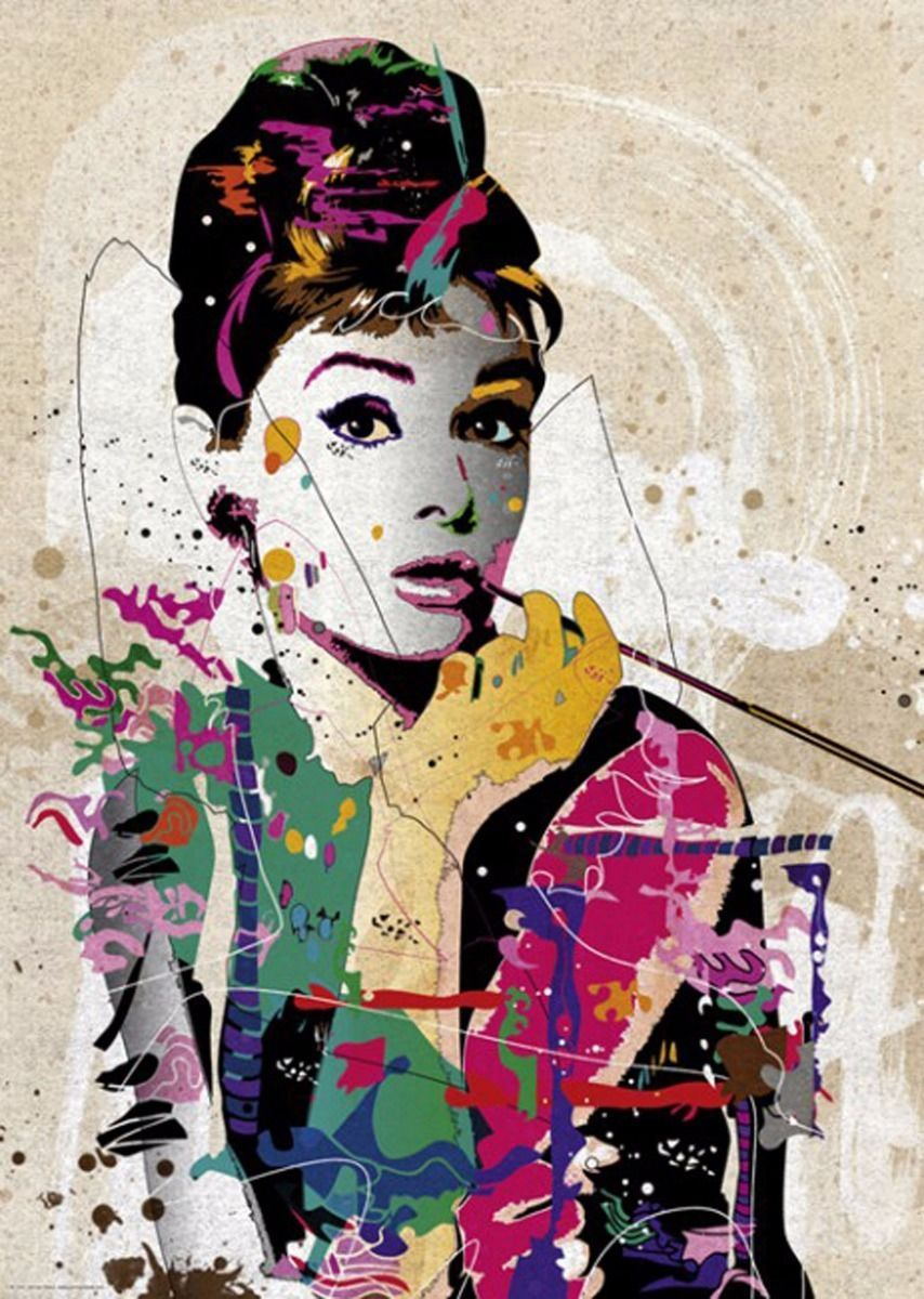 Old Lady Wallpaper Cute Heye Audrey Hepburn People By Johnny Cheuk 1000 Pieces