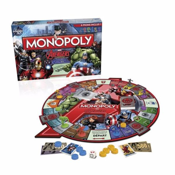 Monopoly Board Game Marvel Avengers Edition In