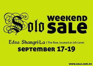 Solo September Sale