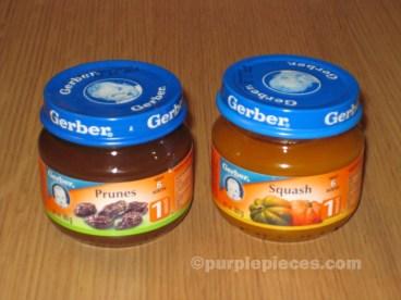 Gerber Prunes and Squash