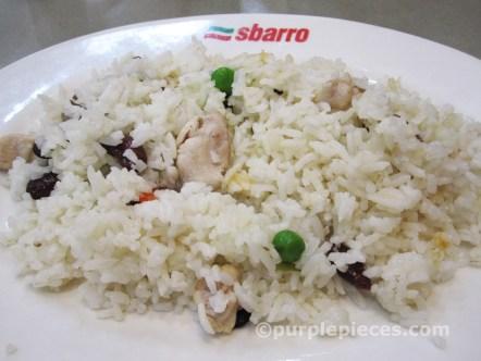Sbarro Chicken and Veggie Rice