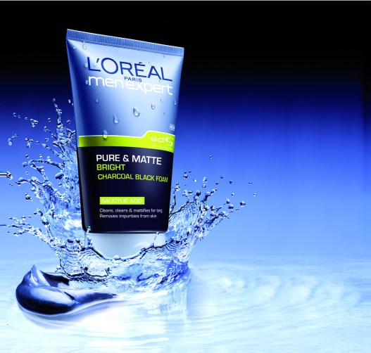 Loreal Men Expert Pure Matte Charcoal Black Foam Facial Wash