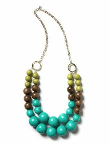 Color Block Beaded Necklace