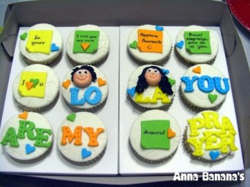 Anniversary Cupcakes - Anna Banana