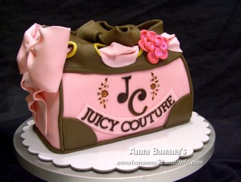Juicy Couture Bag Cake - Anna Banana