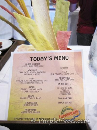 MYOH 2011 - Food Menu