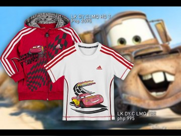 adidas disney cars - jacket and tees