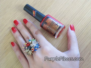 Red Nail Polish by Bobbie - Regular Vamp