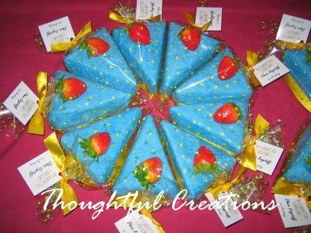 Thoughtful Creations - Towel Cake Slices