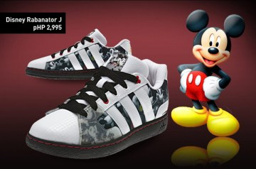 adidas kids mickey mouse rubbershoes