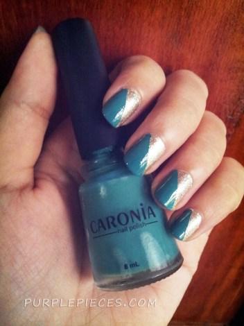 Scotch Tape Nail Art - Caronia On The Go