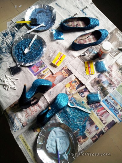 DIY Glitter Shoe
