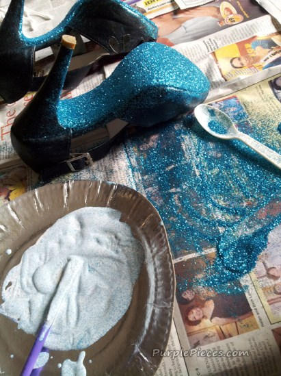 Do it Yourself Glitter Shoes