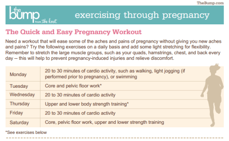 Easy Pregnancy Workout - The Bump