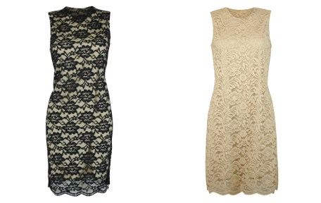 Ensembles - Lace Dress - Black Beige