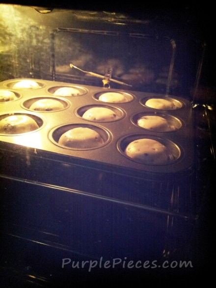 Blueberry Muffins Baking