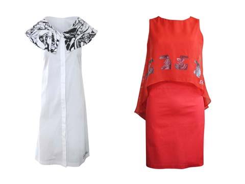 Freeway x Botong Midi dress - Chiffon Overlay Dress