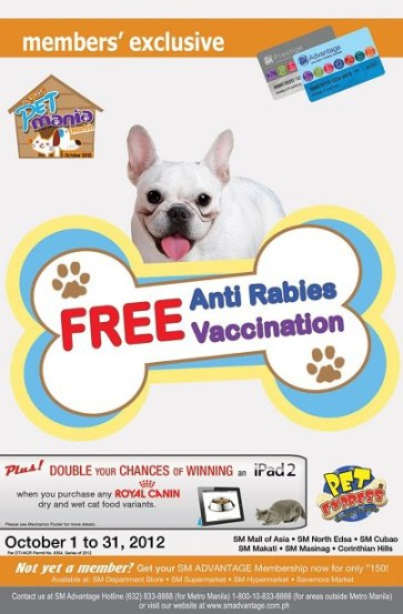 Pet Express Free Anti-Rabies Vaccination - October 2012