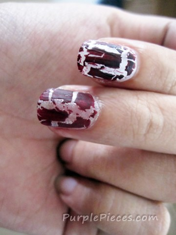 Cracked Nail Polish - Maroon