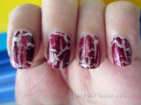 Cracked Nail Polish in Maroon - OMG by Klik