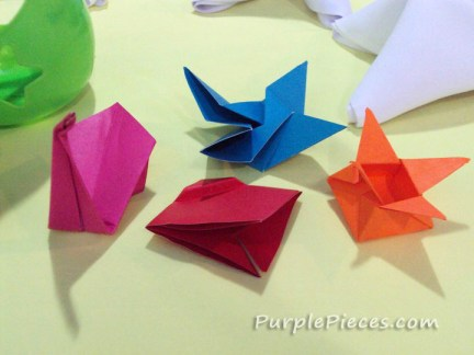 Anime birthday party - Origami Centerpiece