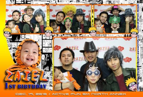 Zaiel 1st Birthday - Party Graphics Photobooth