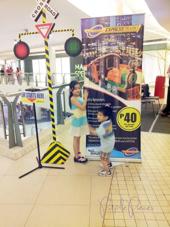Train Station train ride for Kids Trinoma